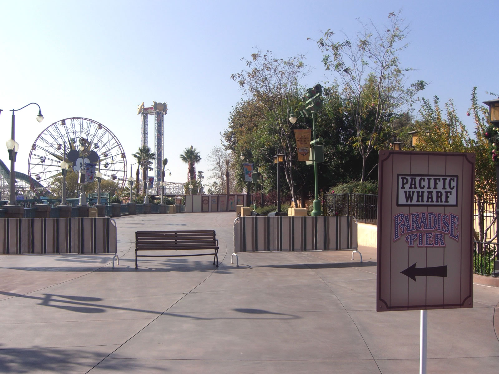 To get to Paradise Pier, follow the detour signs through the Pacific Wharf. Photo by Adrienne Vincent-Phoenix.