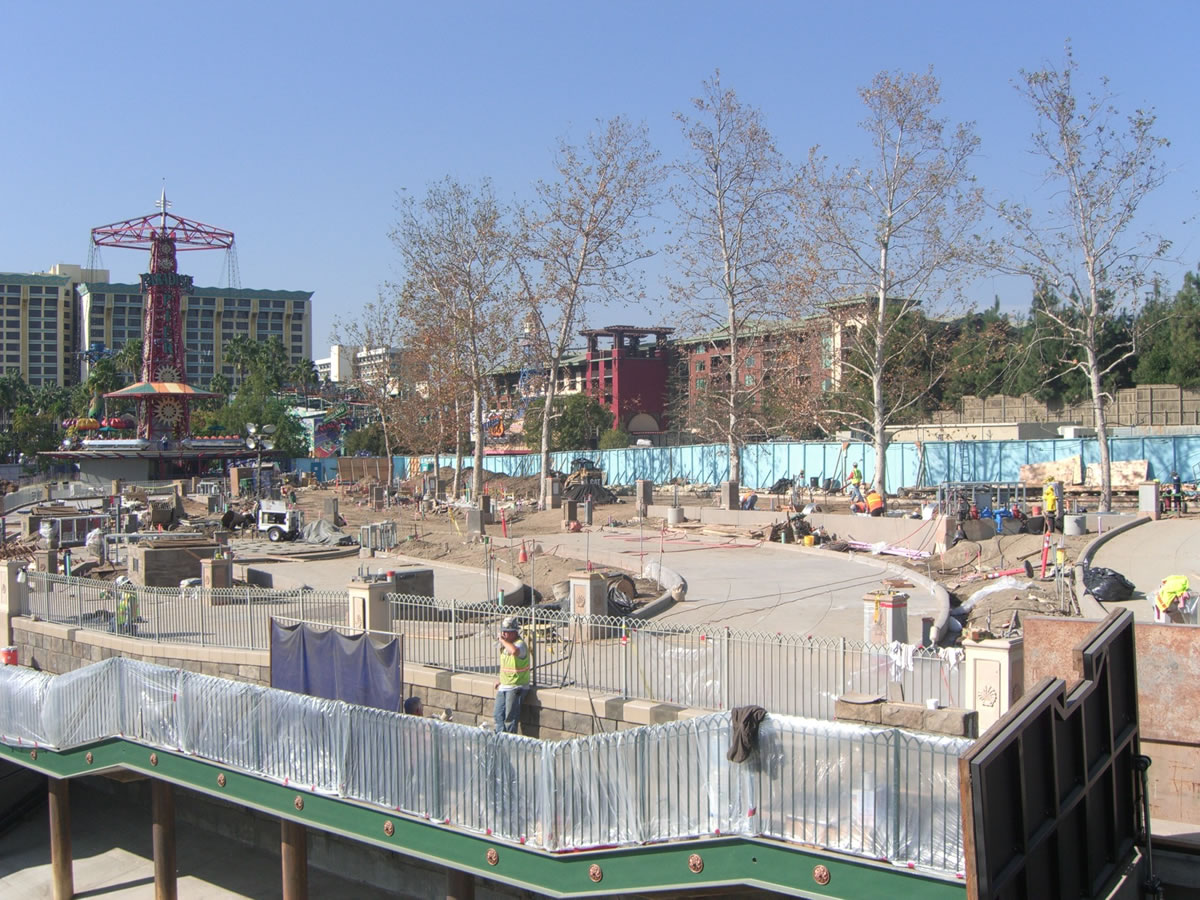 A portion of the new World of Color viewing area iw now paved. Photo by Adrienne Vincent-Phoenix.