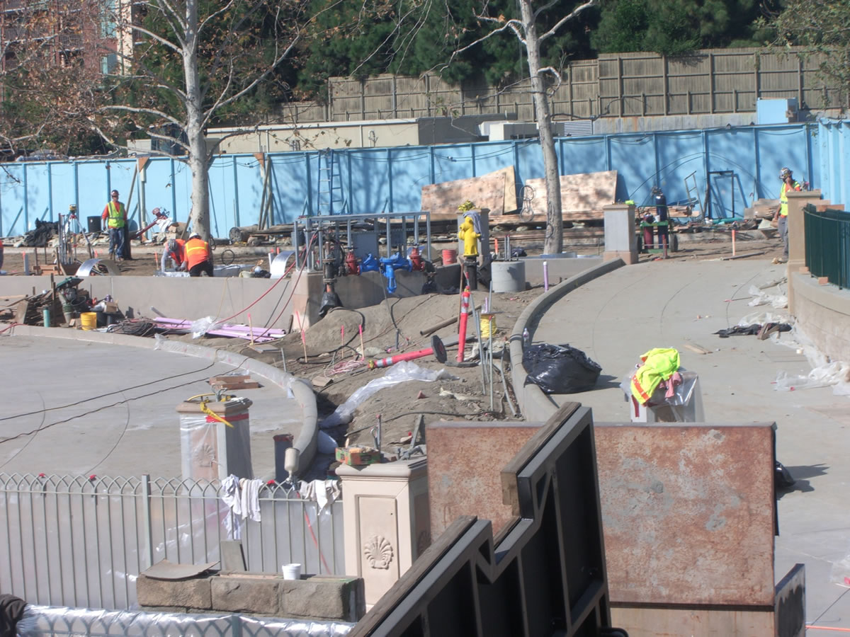 A portion of the new World of Color viewing area has been paved. Photo by Adrienne Vincent-Phoenix.